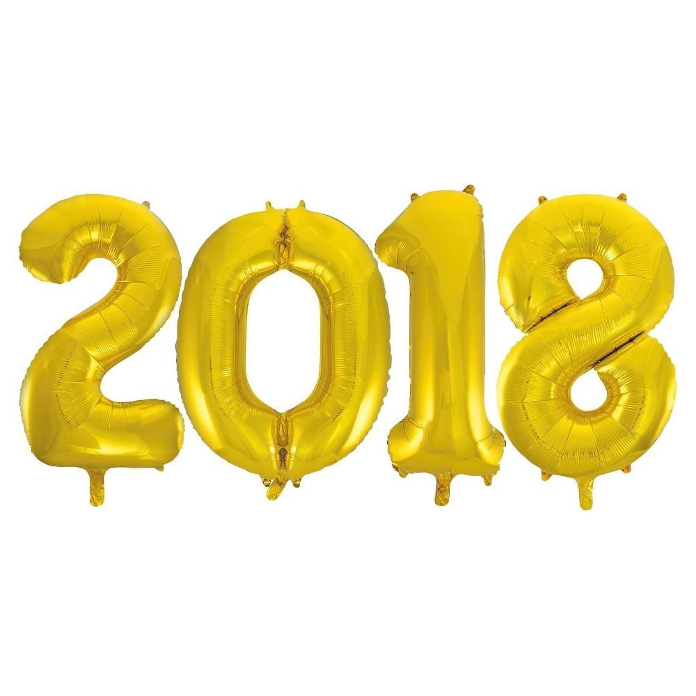 Jumbo Gold Foil Balloons - 2018