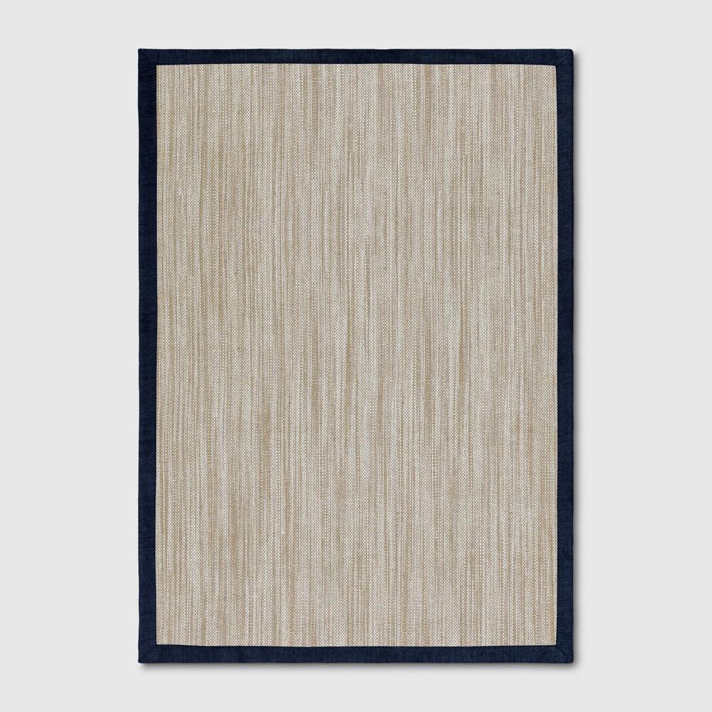 7'x10' Solid Woven Area Rug Indigo (Blue) - Threshold