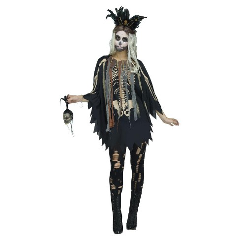 Women's VooDoo Costume Poncho - One Size - image 1 of 1