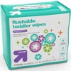 Toddler Unscented Wipes Flushable - 144ct - Up&Up™ - image 2 of 4
