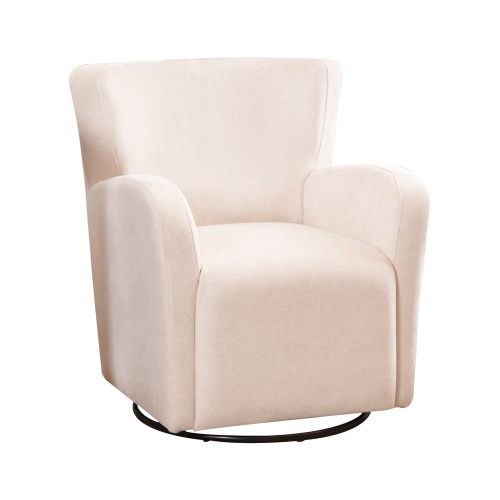 Callie Swivel Chair Ivory - Abbyson Living