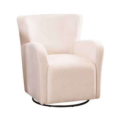 Brilliant Callie Swivel Chair Ivory Abbyson Living Creativecarmelina Interior Chair Design Creativecarmelinacom