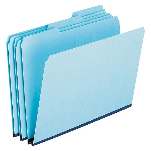 Pendaflex® Pressboard Expanding File Folders, 1/3 Cut Top Tab, Letter, Blue, 25/Box - image 1 of 1
