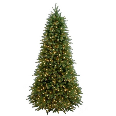 7.5ft National Christmas Tree Company Full Jersey Frasier Fir Artificial Christmas Tree 800ct Clear