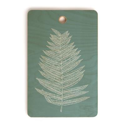 "17"" Wood June Journal Minimalist Botanical Cutting Board - society6"