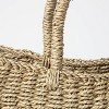 "19"" x 9"" x 16"" Tapered Oval Seagrass Basket Natural - Threshold™ designed with Studio McGee - image 3 of 4"