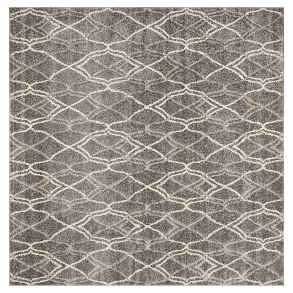 Toulouse Square 7'x7' Indoor/Outdoor Rug - Gray/Light Gray - Safavieh
