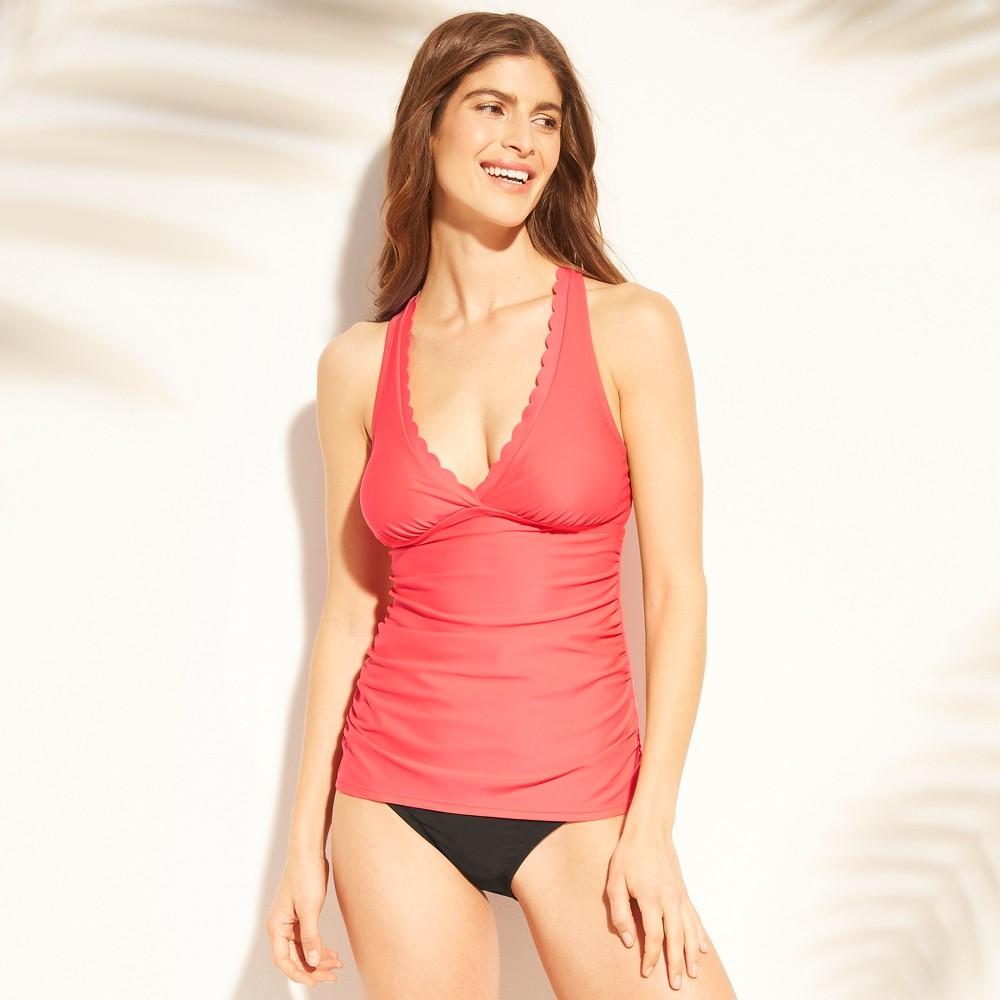 Women's Scallop Tankini - Kona Sol Blazing Coral M