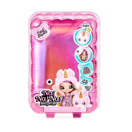Na! Na! Na! Surprise 2-in-1 Fashion Doll & Plush Pom with Confetti Balloon Unboxing image number null