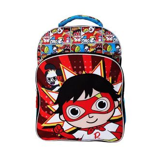 "Ryan's World 18"" Super Cool Kids' Backpack -  Blue/Red"