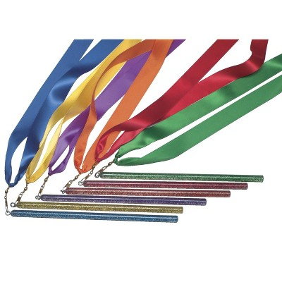 Sportime Rainbow Ribbon Wands, 36 Inches, set of 6