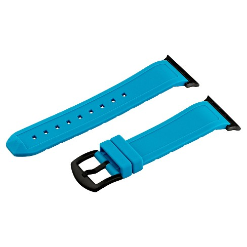 Clockwork Synergy Divers Silicone Apple Watch Band 42mm with Black Adapter - Blue - image 1 of 1