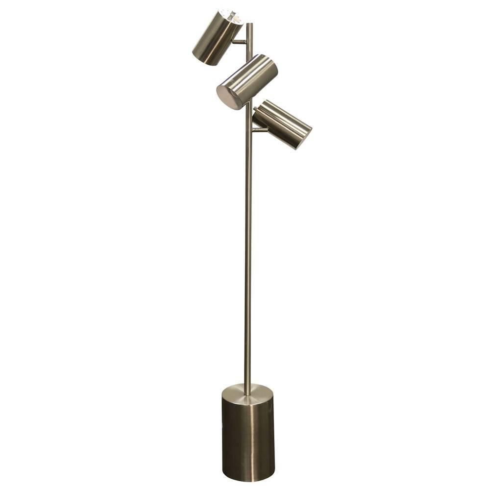 Floor Lamp Brass (Includes Energy Efficient Light Bulb) - Stylecraft