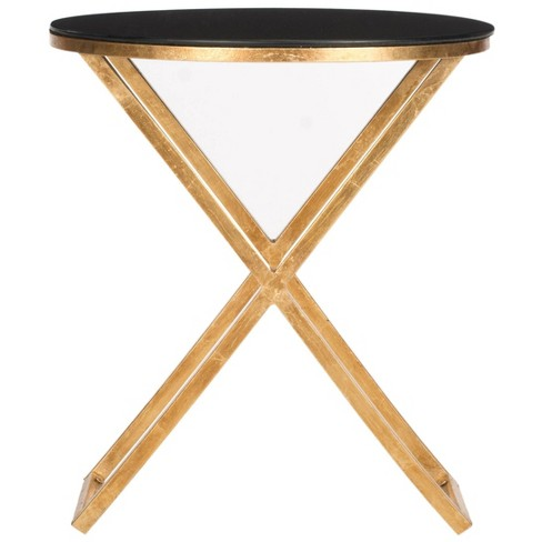 Riona Accent Table Black/Gold - Safavieh - image 1 of 3
