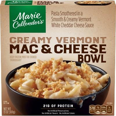 Marie Callender's Frozen Creamy Vermont Mac & Cheese Bowl -13oz
