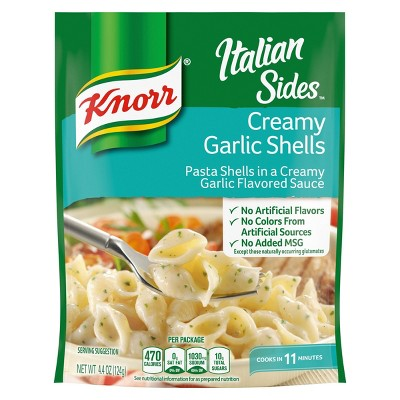 Knorr Italian Sides Pasta Side Dish Creamy Garlic Shells - 4.4oz