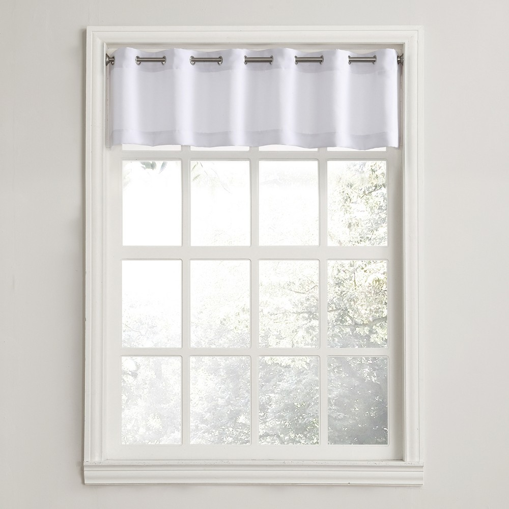 Montego Casual Textured Grommet Kitchen Curtain Valance W...