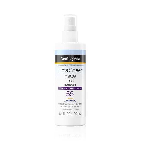 Neutrogena Ultra Sheer Face Mist - SPF 55 - 3.4 fl oz - image 1 of 4