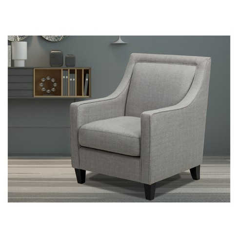 Harris Upholstered Chair with Piping Light Gray - John Boyd Designs