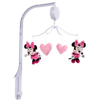 Lambs & Ivy Minnie Mouse Love Musical Baby Crib Mobile