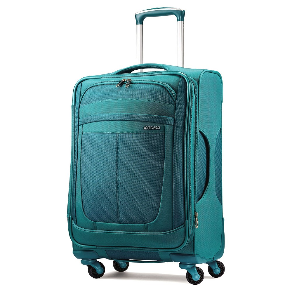 American Tourister Delite 21 Spinner Carry On Suitcase - Teal (Blue)