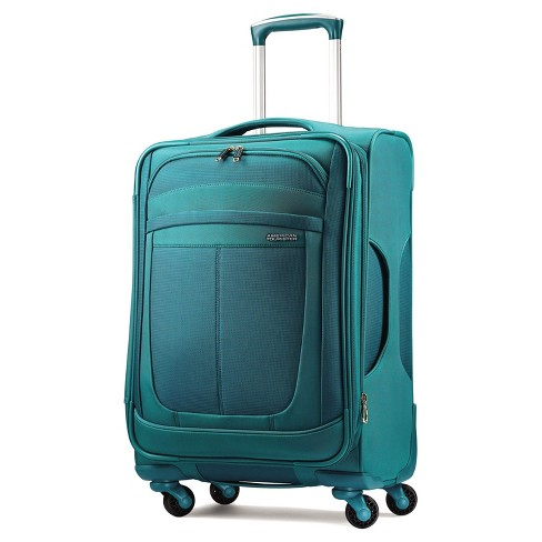American Tourister Delite 21 Spinner Carry On Suitcase Teal