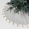 Round Tree Skirt Sour Cream / Green Stripe with Tassels - Hearth & Hand™ with Magnolia - image 2 of 4