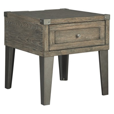Chazney Rectangular End Table Rustic Brown - Signature Design by Ashley