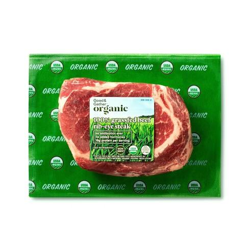 Organic 100% Grassfed Ribeye Steak - 0.38-0.75lbs - priced per lb - Good & Gather™ - image 1 of 2