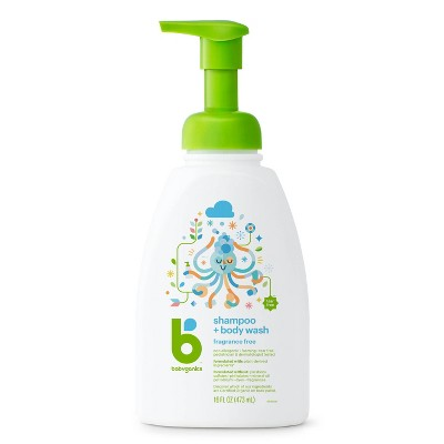 Babyganics Baby Shampoo + Body Wash, Fragrance Free - 16 fl oz Pump Bottle