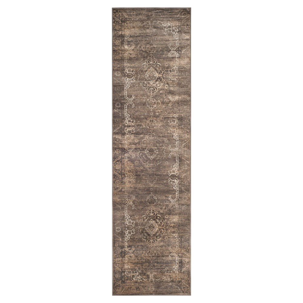 Alessandra Vintage Runner - Soft Anthracite (Grey) ( 2' 2 X 8' ) - Safavieh