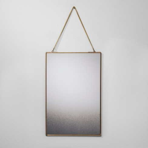 "12""x18"" Distressed Brass Wall Mirror - Hearth & Hand™ with Magnolia - image 1 of 2"