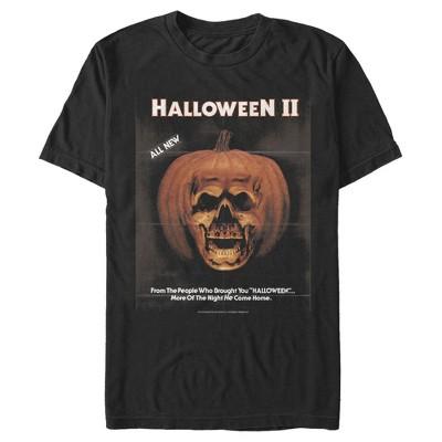 Men's Halloween II Skeleton Movie Vintage Poster T-Shirt