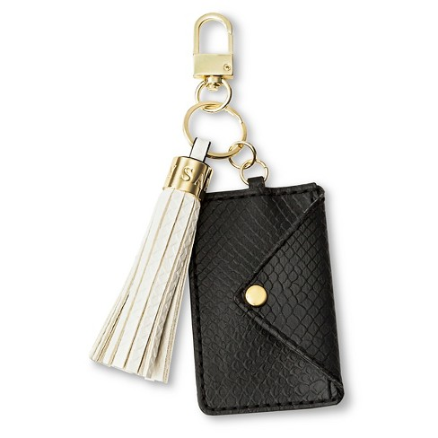 Women s Card Holder And Tassel Key Chain Black White - Sam   Libby   Target 19a3ce0c2f
