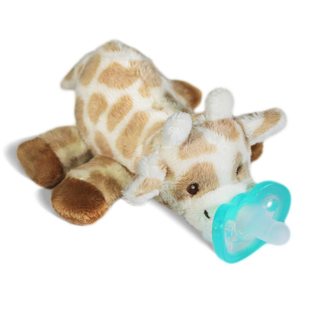 Image of Razbaby Razbuddy Paci Holder JollyPop Giraffe, Brown