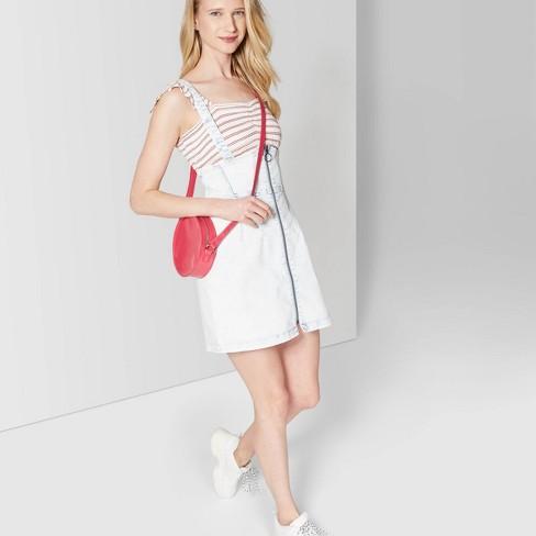 c1e54ccc6 Women's Strappy Pinafore Mini Dress - Wild Fable™ Light Denim : Target