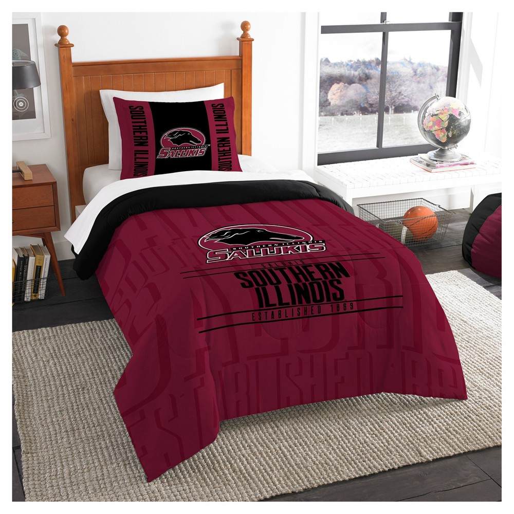 NCAA Northwest Modern Take Twin Comforter Set Southern Illinois Salukis - 64 x 86