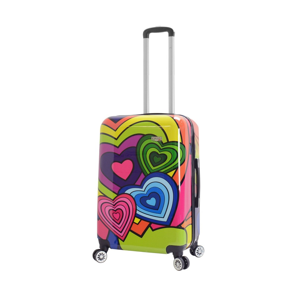 "Image of ""Mia Viaggi ITALY 24"""" Hardside Suitcase - Pop Heart, MultiColored"""