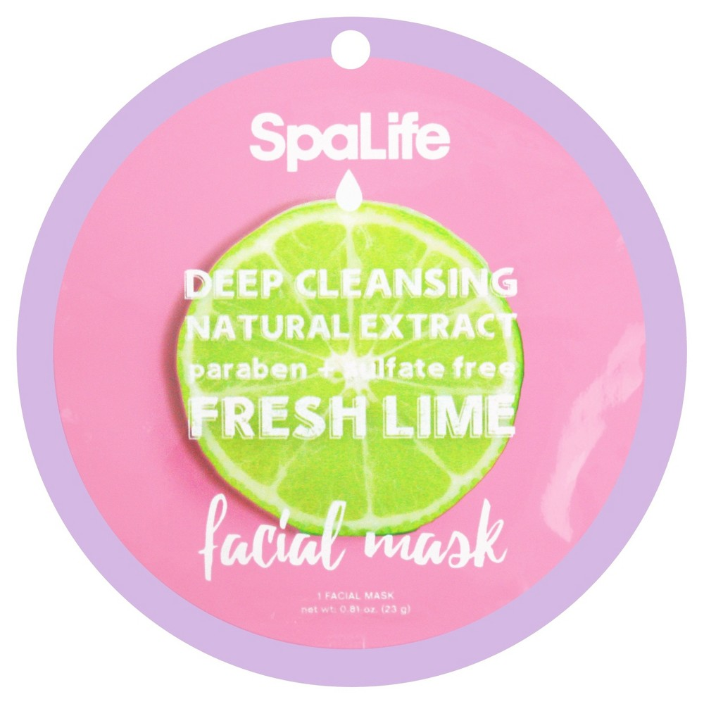 SpaLife Deep Cleansing Facial Mask - Lime - 0.81 oz