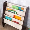 KidKraft 14229 Sling Canvas Kids Space Saving Wooden Bookshelf, Espresso/Natural - image 2 of 4