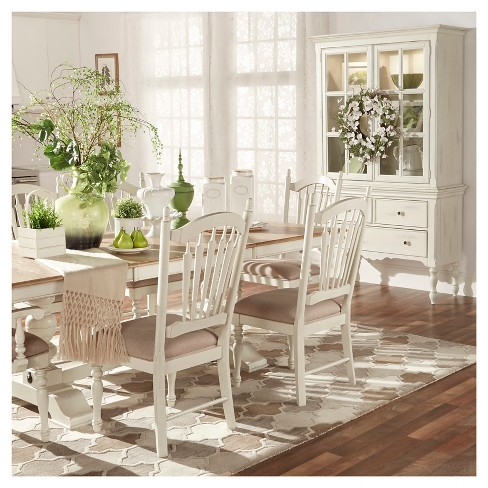+ 1 more - Meadow Hills Arm Dining Chair Wood/Antique White... : Target