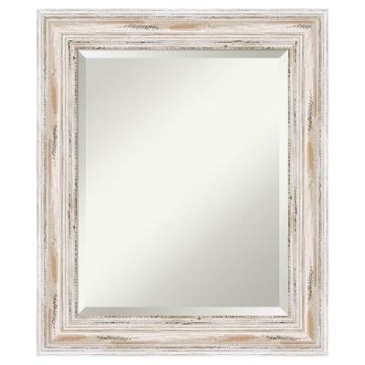 Alexandria Mirror White Wash 21 x25  - Amanti Art