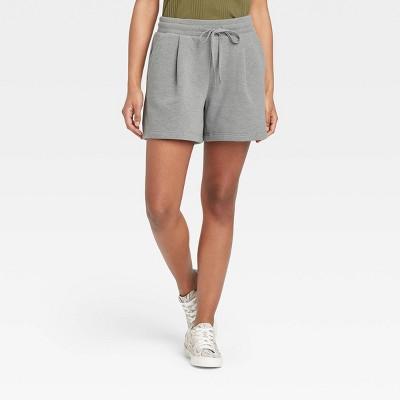 Women's High-Rise Tie Waist Knit Midi Shorts - A New Day™