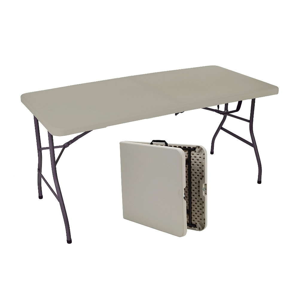 Image of Sudden Comfort 5' Utility Fold-In-Half Table - Mocha - Meco