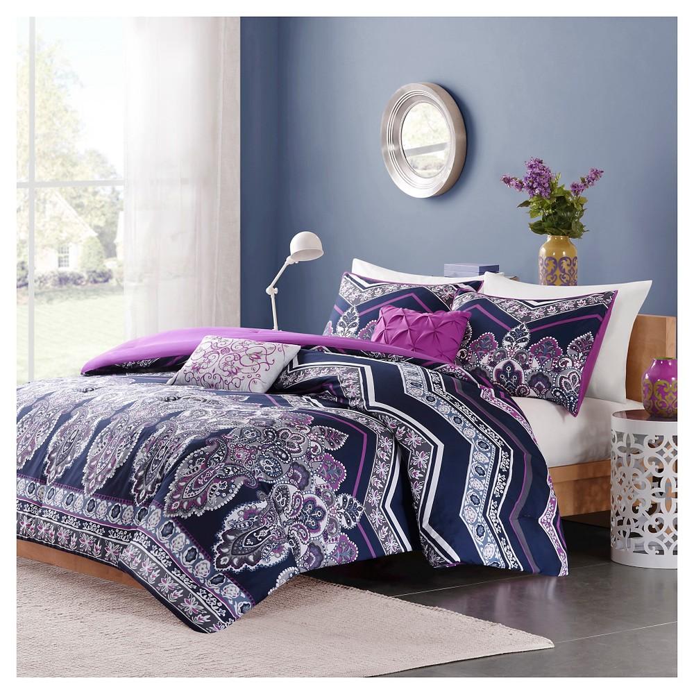 Blakely Comforter Set (Full/Queen) 5pc - Purple