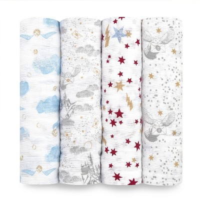 aden + anais Muslin Swaddles Harry Potter Iconic - 4pk