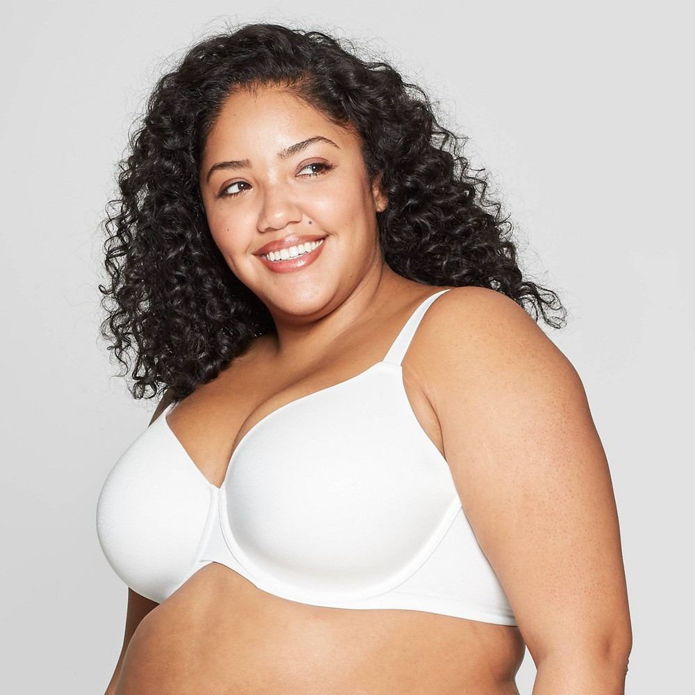 Women's Plus Size Superstar Lightly Lined T-shirt Bra - Auden - White 42DD