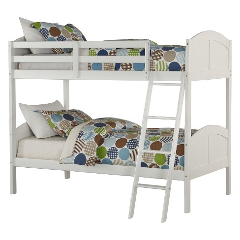 Acme Furniture Toshi Twin over Twin Bunk Bed White : Target