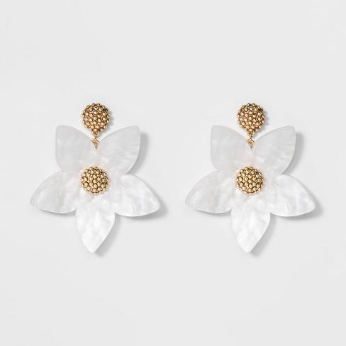 Sugarfix by bauble bar flower drop earrings white target sugarfix by bauble bar flower drop earrings mightylinksfo