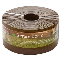 "5"" x 40' Terrace Board Lawn And Garden Edging With 10 stakes - Brown - Master Mark Plastics"
